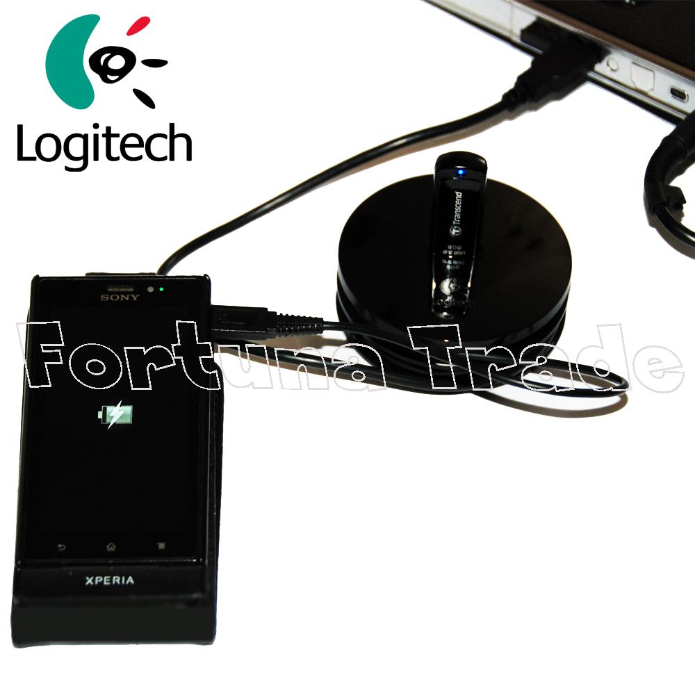 logitech usb hub ladestation microusb ladekabel f r handy. Black Bedroom Furniture Sets. Home Design Ideas